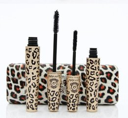 Wholesale set Love alpha leopard print lengthening mascara youniqued d fiber lashes mascara with box genuine security signs
