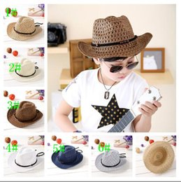 Wholesale boy cool Beads collocation color baby Sun hat Jazz cap Edge sun hat Wide brim is prevented bask in necessary