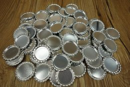 Wholesale 2014 New arrival silver color inch mm flattened bottle caps for DIY Crafts necklace