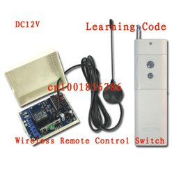 Wholesale 3000M DC12V A CH MHz RF Wireless Remote Control Power Switch Radio Controller Transmitter Receiver With Antenna