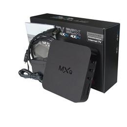 Wholesale MXQ Amlogic S805 Quad Core CPU Mali GPU GB GB Smart Android TV Box Support HDMI b HD D K Wifi Android Update Online