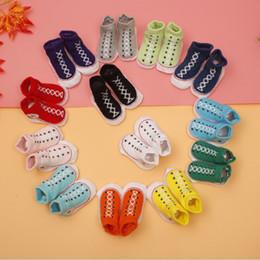 Wholesale 0 M Baby Girls Boys Slipper Socks D Baby Shoe Socks Fake Plimsolls All Star Slippers Kids Meias Bebe Calcetines