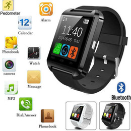 Wholesale U8 Smart Watch Bluetooth Altimeter Anti lost inch Wrist Watch U Watch For Smart phones iPhone Android Samsung HTC Sony Cell Phones