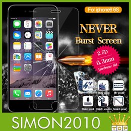 Wholesale For iphone inch real Tempered Glass Screen Protector mm Explosion Proof Guard Screen Film for Iphone5 LG Sony Z3 note3 s3