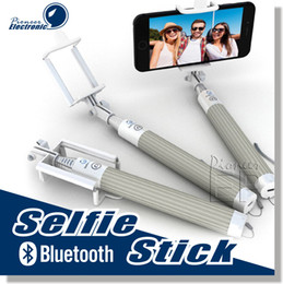 Wholesale Bluetooth Selfie Stick Self Monopod Advanced Wireless Technology Designed For All iPhones iOS Samsung Galaxy Note Android Phones