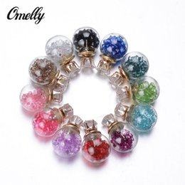 Wholesale Summer Style Glass Stud Earring Glass Bottle Crystal Double Sided Earrings Stud Jewelry Hot Selling in Bulk Cheap Price