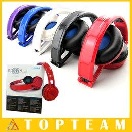 Rue sms via un casque d'oreille à vendre-Vente en gros SMS Audio SYNC Wired STREET par 50 Cent Headphones Noir Blanc Bleu Over-Ear Casques d'écoute câblés sans fil DHL