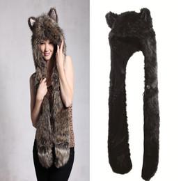 S5Q Women Girl Lady Cute Animal Fur Hat Winter Cap Halloween Christmas Gift AAACOX