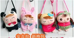 Wholesale Hot Cartoon Metoo Baby Plush Toys wallet insect animal Girls Inclined shoulder bag Kids loose change camera Mobile phone package