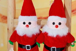 Wholesale Santa Claus doll accessories toy is very lovely Best Christmas gift price material benefit The mass tone attune in red