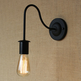 Wholesale Iron Industrial retro wall lamp E27 plated Loft american retro vintage iron wall lamp Antique industrial lamp