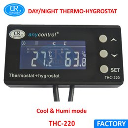 Wholesale RINGDER THC US Digital Temperature and Humidity Controller Regulator Hygrothermostat Thermo hygrostat for Greenhouse Reptile