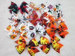 15% off new style 3inch ribbon hair bow for Halloween halloween hair bows WITH CLIP kids hair accessories 60pcs