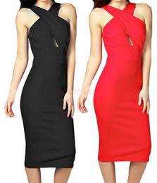 Wholesale 2015 New Vestidos De Festa Plus Size Women Summer Casual Dress Halter Sleeveless Hollow Dresses Party Novelty Vestidos Para Festa SV005742