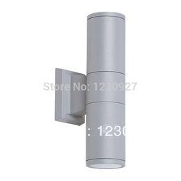 Wholesale grey LED waterproof courtyard garden wall lamp over door head EXTERIOR aluminum wall lamp fixture housing