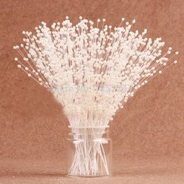 Pearl Flower 99pcs(3 pcs bundle 33 bundles) 3mm White  Ivory Pearl Sticks Wedding Decoration Bouquet Cakes Accessory For DIY