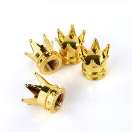 Wholesale Hot Sale New Arrive Car Truck Motocycle Bike Crown Shaped Tire Wheel Stem Air Valve Cap