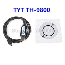 Wholesale For TYT CP USB Programming Cable For TYT TH Black With Software CD