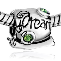 Wholesale MYD Jewelry August Birthstone Snail Dream Bead Rhodium Silver Color Plating Animal Charm Fit Pandora Bracelet