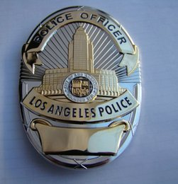 Wholesale The Losangeles Los Angeles police badge LAPD copper metal badge badge
