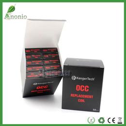 100% Original Kangertech Coil Subtank Head Organic Cotton Coil 0.5 1.2 ohm Kanger OCC Subtank Nano Mini OCC Coil Sub ohm Clearomizer Coil
