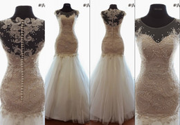 Real Image Vintage Wedding Dresses vestido de noiva High Quality Bridal Dress Custom Made Mermaid Formal Wedding Gowns