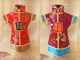 Vintage Chinese style Wine Gift bags Bottle Covers Silk Pattern Reusable Bottle Packaging 10pcs lot mix color