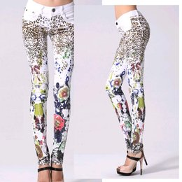 New Arrival Printing jeans woman Casual Pencil pants Girl Washed Leopard Pattern Skinny Long women Jeans Capris