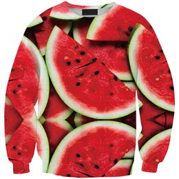 Eastdragon Funny 3D Food Sweatshirt Watermelon Printed Novelty Women Hoodies