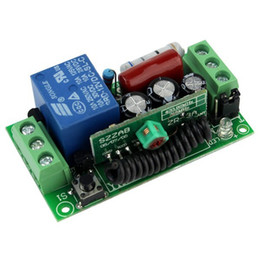 Wholesale New V Single Channel RF Wireless Remote Control Receiver Relay Module Switch MHz Learning Code F4141A433