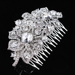 3.9 Inch Vintage Silver Tone Elegant Bridal Hair Comb Headpiece Jewelry Wedding Hair Decoration Accessory