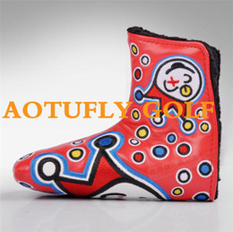 Wholesale Custom Shop Clown golf putter headcover great PU leather quality golf head covers colors