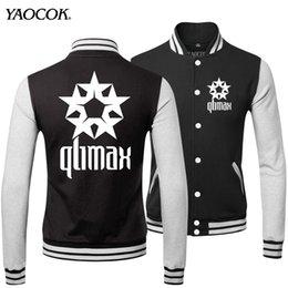 Wholesale Fall New Fashion Famous Brand Warm Winter Printed Qlimax Rock Band Bomber Baseball Uniform Cool Mens Casual Jackets And Coats
