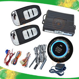 Wholesale smart car security system passive keyless entry auto lock or unlock car door push button start stop engine