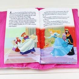 Wholesale Princess Sleeping Beauty Tale Talking Plush Book Cloth Book Kids Early Development Cloth Books Toys