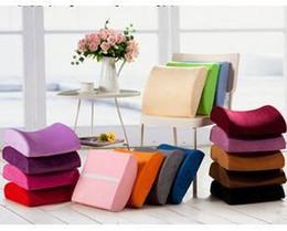 Promotion oreillers de soutien lombaire Mousse à mémoire de forme lombaire dos soutien coussin oreiller couleur unie