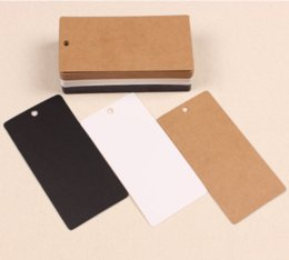5*10cm Kraft Paper Party Wedding Favor Gift Label Wish Greeting Cards Rectangle Blank Tags Bookmark Luggage Label Clothing Price Hang Tag