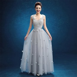New Stock Evening Dresses Elegant V-Neck Girls Dress Sexy Backless Long Ball Prom Party Pageant Graduation Formal Dress Gown