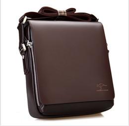 New Hot Sale Men Shoulder Briefcase Black Brown Genuine Leather Handbag Business Men Laptop Bag Messenger Bag 4 Size Retail