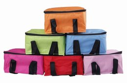 Wholesale Picnic Lunch Organizer Box Waterproof Oxford Portable Ice Pouch Warm Keeping Picnic Insulated Cooler Bag DGZ