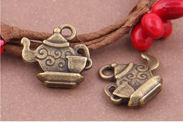 Wholesale The teapot teacup Charms Necklace Pendants earrings Pendants DIY Charms Jewelry Findings Components