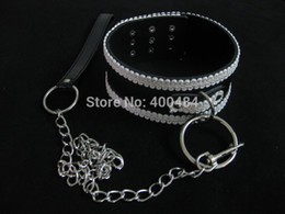 Wholesale-Sex Gear Neck Collar With Chain Dog Cosplay Collars Sex Toys Adult Games Products YC7215