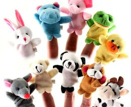 Wholesale 10 Cartoon Finger Puppet Finger Toy Doll Animal Doll Baby Dolls for Kid s Fairy Tale Finger Toys Cheap In Stock Puppet On Sale