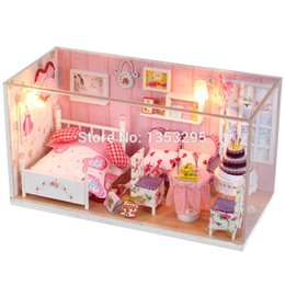 Wholesale ONLY LOVE DIY Doll house with furniture Handmade wooden house D Girs birthday gifts collection casa de boneca