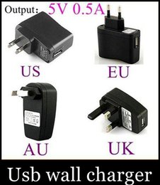 Wholesale USB wall charger E Cig Charger Ego T wall charger Electronic Cigarette EGO Charger Adapter US EU UK AU AC Power Wall Charger Adapter FJ006