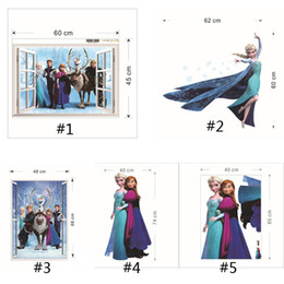 Frozen window wall stickers home decor removeable 3d wall stickers home decor the Art Of Frozen Movie Wall Stickers(1704036)