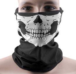 Halloween Cosplay Bicycle Ski Skull mask Half Face Mask Ghost Scarf Bandana Neck Warmer Skull Party Masks Home Gadgets free shipping