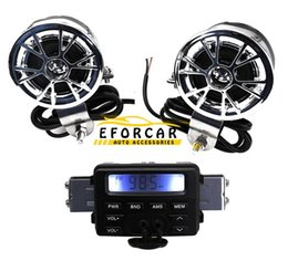 Wholesale 12V FM Car MOTORCYCLE RADIO MP3 Speaker Audio Player Stereo WATERPROOF SPEAKERS