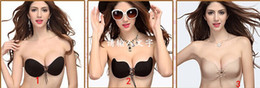 Wholesale 2015 hot selling Sexy Women Bust Shaper Silicone Gel Invisible Self Adhesive Strapless Backless