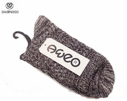 Wholesale-2015 New Man Knitted Socks Cotton Socks Winter Mens Brand Thermal High Men Sock Black Gray Navy Coffee meias homens